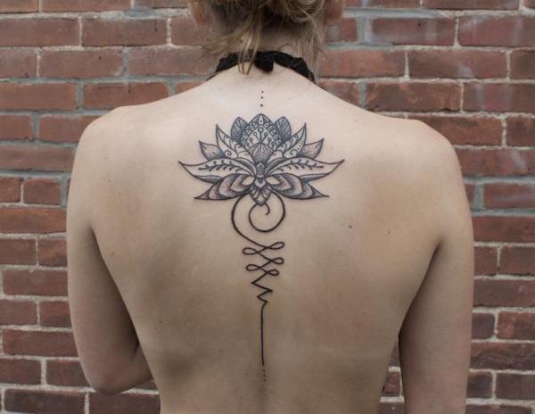 ¿Cuál es el significado del tatuaje Unalome - Significado del tatuaje Unalome con flor de loto