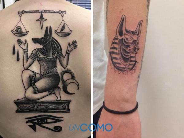 Tatuaje egipcio: significados - tatuaje egipcio de Anubis: significado