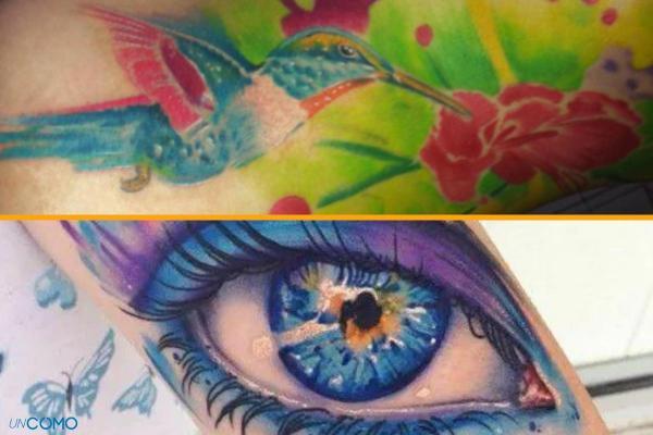 Style de tatouage - Old School, tribal, biomécanique et réaliste - Tatouage aquarelle