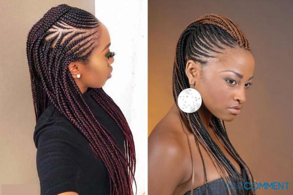 Peinados con trenzas africanas - Faux hawk con trenzas africanas