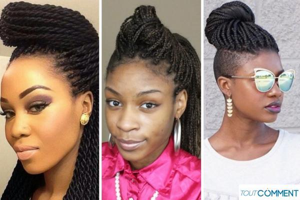 Peinados con trenzas africanas - Plátano con trenzas africanas