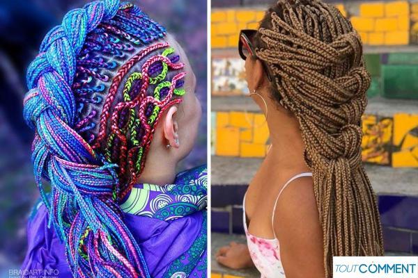 Peinados con trenzas africanas - Trenza sobre trenza
